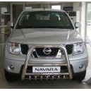 NINA.37.2170/72 NISSAN NAVARA D40 FRONT HIGH BULL BAR WITH GRILLE
