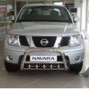 NINA.35.2177/83 NISSAN NAVARA D40 MEDIUM BULL BAR WITH GRILLE