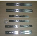 5003091 NISSAN NAVARA D40 01.06+ Chrome Door Sill Covers  8 Pcs. S.Steel