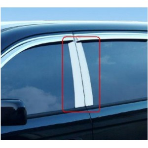 5005139 NISSAN X-TRAIL 2008-2010 Chrome Side Door B-Pillar Lid 6 Pcs. S.Steel
