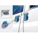 2621041 FORD TRANSIT  MK6, MK7 2003+ Chrome Door Handle Covers (5 Pcs.) 4 Doors S.Steel
