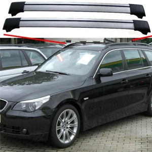 BMW 5 Series Touring Estate E61 2004 – 2010 Aero Cross Bars Set Aluminium Spoiler