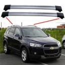 Chevrolet Captiva 2006+ Aero Cross Bars Set Aluminium Spoiler