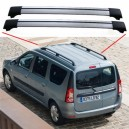 Dacia Logan MCV 2008 + Aero Cross Bars Set  Aluminium Spoiler
